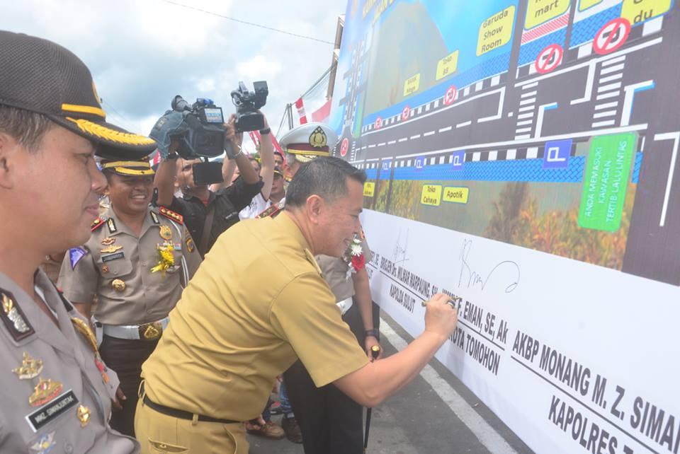 Kota Tomohon dipilih menjadi pusat kegiatan peresmian KTL se- Provinsi Sulut sebagai Percontohan Pertama di Indonesia