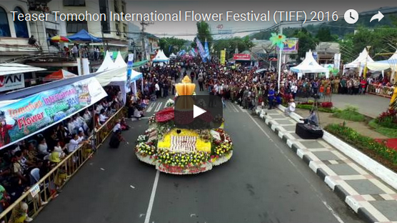 Cuplikan Video Tomohon International Flower Festival (TIFF) 2016 area panggung utama