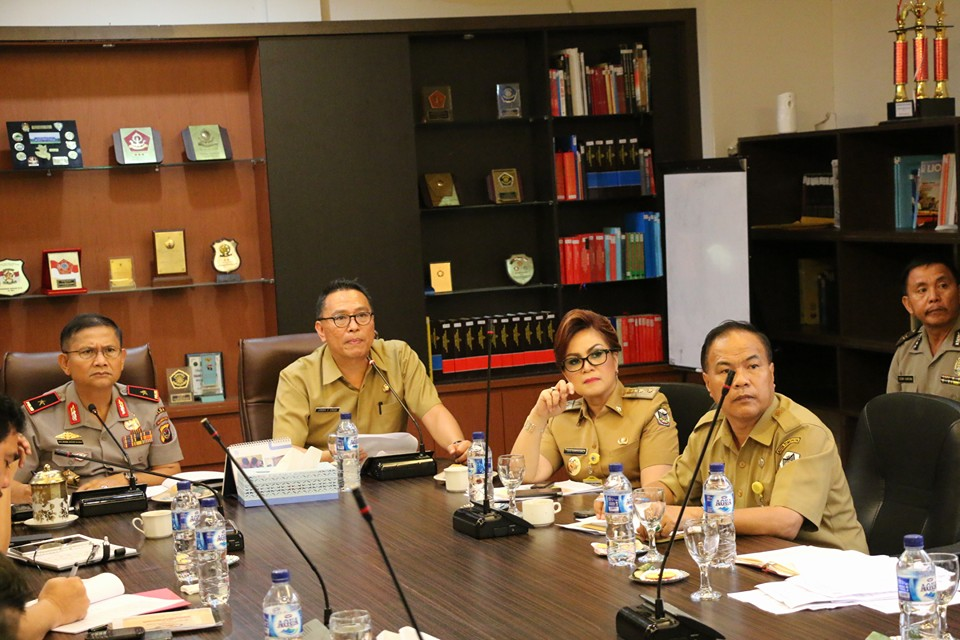 Walikota Tomohon Presentasi TIFF Ke Kapolda Sulut & Gubernur Sulut