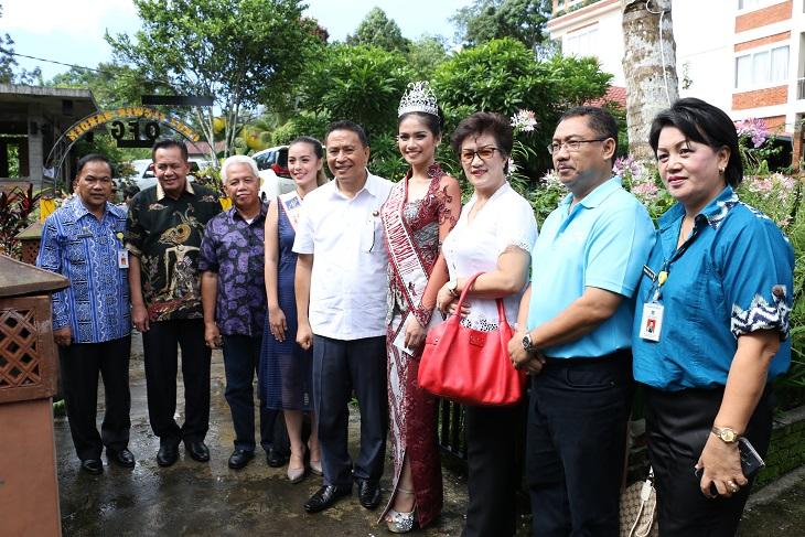 Kunjungan Putri Pariwisata Indonesia 2016 di Kota Tomohon