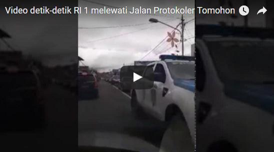 Video detik-detik RI 1 melewati Jalan Protokoler Tomohon